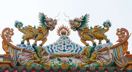 Chinese Dragon sculptures photo