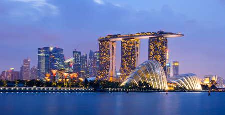 싱가포르의 스카이 라인 에디토리얼