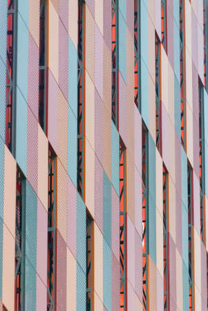Colorful pattern on a building photo