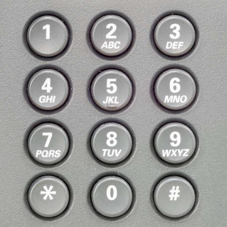 teclado numérico: Teclado del teléfono