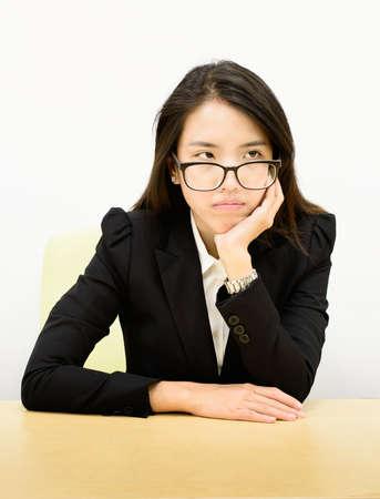 tried: Thai business woman tried Stock Photo