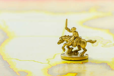 cavalry: Golden Cavalry Model on a map