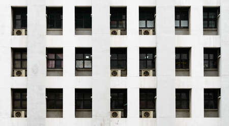 Apartment windows and air conditioning photo