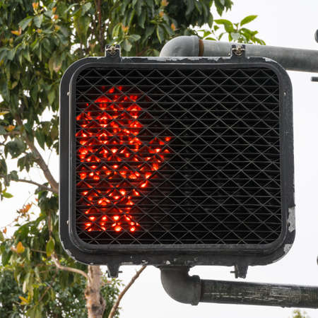 Stop crossing sign light photo