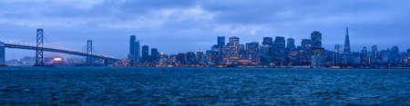 San Francisco City and Bay Bridge photo