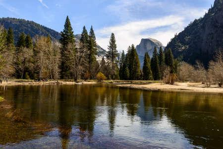 Half Dome and reflection, Yosemite National Park photo