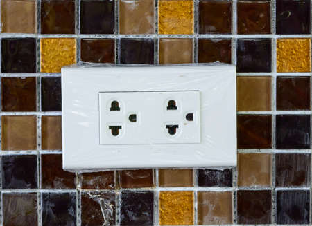 North American Standard Electric Wall Power Outlet As A Distorted ...