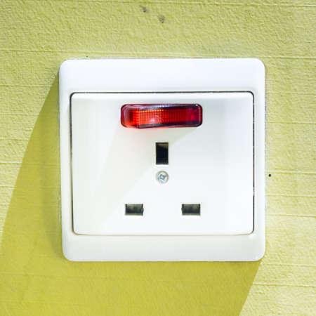 electric socket: Singapore Electric Socket Stock Photo