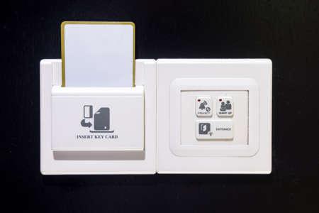 keycard: Keycard socket, entrance light switch, make up room switch, privacy switch in hotel