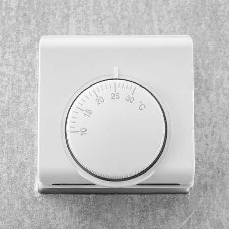 Temperature adjustment button of air conditioner Banco de Imagens