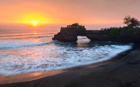 Sun set at Batu Bolong Banco de Imagens