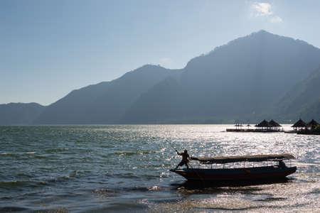 Fisherman at Batur Lake, Indonesia