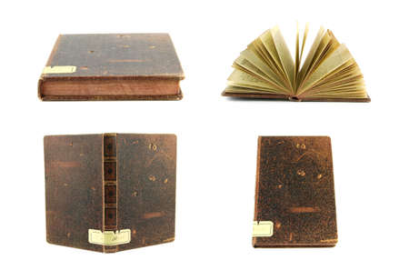 Old book isolated on a white background  Stock Photo - 9139414