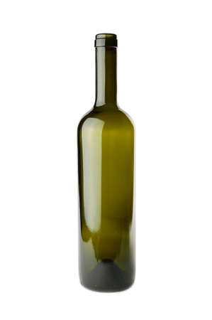 Emtpy wine bottle isolated on a white background Stock Photo