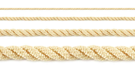Close up of a seamless rope isolated a white background Stock Photo