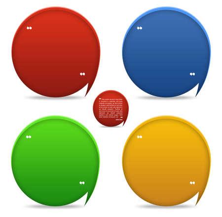 t�moignages: Lot de 4 bloc t�moignages d�taill�s pour le mod�le web
