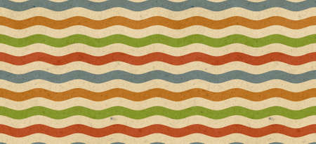 Retro seamless wave. Abstract background. Stock Photo - 10801358