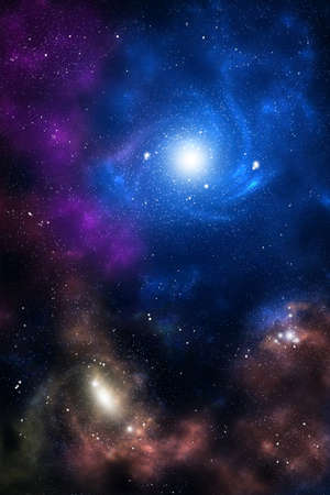 Blue and brown space galaxy as abstract background Stock Photo - 10900064