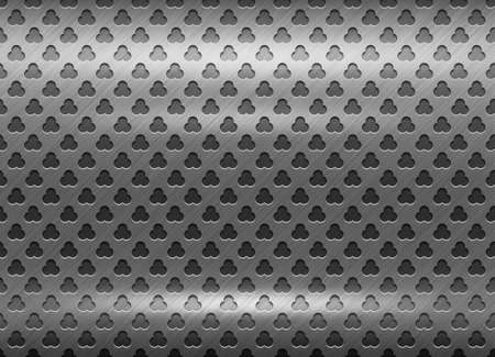 Polished metal grid texture. Abstract background. photo