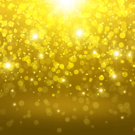 boke: Golden abstract background with bokeh effect
