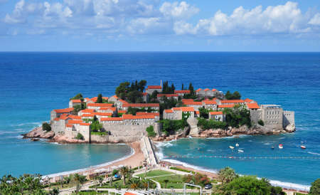 Sveti Stefan island and Adratic sea, Montenegro.