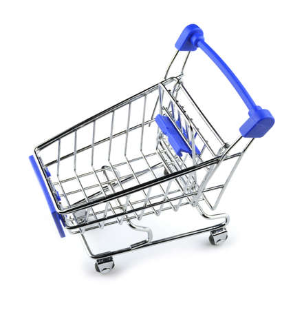 Shopping cart isolated on white background. Concept shopping.
