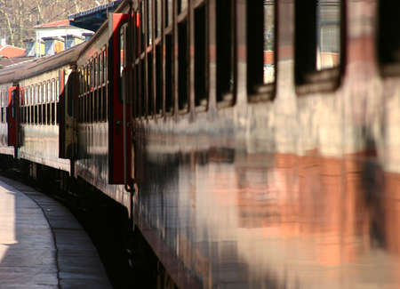 peron: Train Departure at Sirkeci Train Station in Istanbul Stock Photo