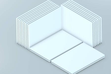 灰色背景: プレゼンテーション アプリケーション web デザイン テンプレートです。あなたのデザインを配置します。多くのカード。ショーケース。灰色の背景。