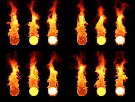 outburst: Sphere in fire. Many version  12. simulation of fire