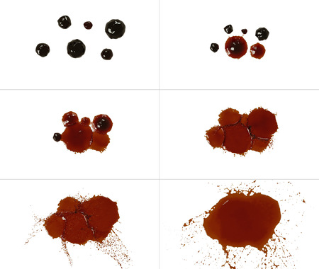 Collection blots isolated on white background. Set of blots