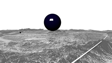 3d render of abstract planet surface. Very detailed sci fi or science fiction background in greyscale like moon landscape with 3d objects. Ð¡osmic surface of the planet 5