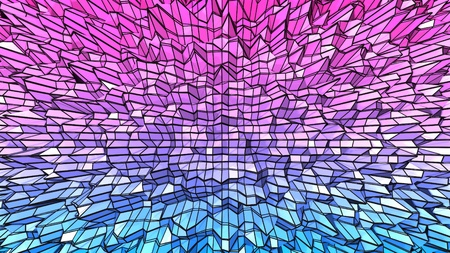3d low poly abstract geometric background with modern gradient colors. 3d surface with grid 1