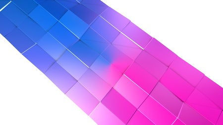 3d low poly abstract geometric background with modern gradient colors. 3d surface blue red violet gradient colors. 7