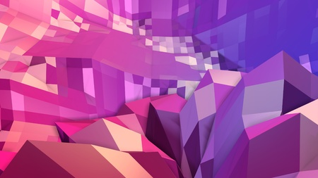 3d low poly abstract geometric background with modern gradient colors. 3d surface blue red violet gradient colors. 10