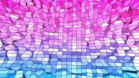 3d low poly abstract geometric background with modern gradient colors. 3d surface blue red violet gradient colors with grid 1