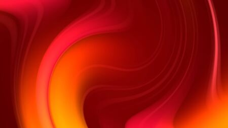 3d rendering of abstract background with red orange yellow twisted gradient of colors. beautiful mixing colors of paint spiral on a plane