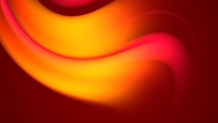 3d rendering of abstract background with red orange yellow gradient of colors. 写真素材
