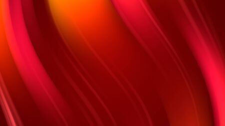 3d rendering of abstract background with red orange yellow twisted gradient of colors. beautiful mixing colors of paint curved lines on a plane Stock Photo