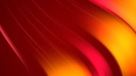 3d rendering of abstract background with red orange yellow twisted gradient of colors. beautiful mixing colors of paint arc on a plane