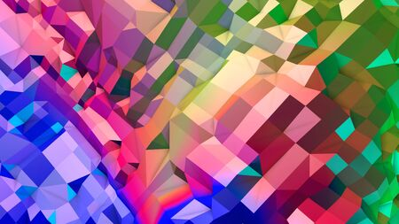 3d rendering of low poly background with 3d objects and modern gradient colors.