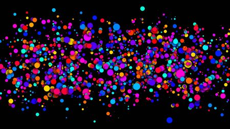 Abstract simple background with beautiful multi-colored circles or balls in flat style like paint bubbles in water. 3d render of particles, colored paper applique. Creative design background 5