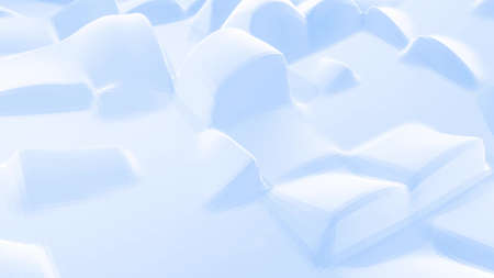 3d rendering. Stylish blue white creative abstract low poly background. Stockfoto