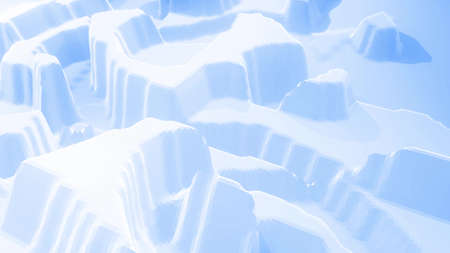 3d rendering. Stylish blue white creative abstract low poly background. Stockfoto - 154584802