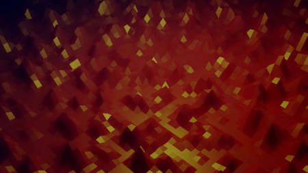 3d render. Stylish creative abstract low poly background. Abstract waves on glossy surface. Simple minimalistic geometric bg. Red orange colors. Stockfoto