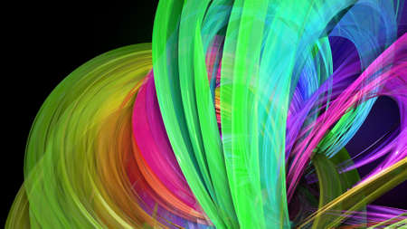 Creative abstract twisted rainbow color background. Abstract stripes. 3d render