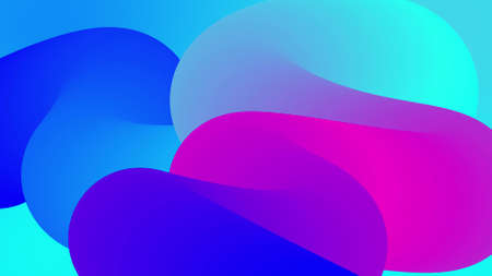 beautiful gradients with shades of blue purple along elegantly twisted line or pipe. Beautiful modern design background of liquid. 3d render