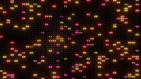 3d render. simple geometric background with colorful frames flashing like neon lights. Creative colorful background. Stockfoto