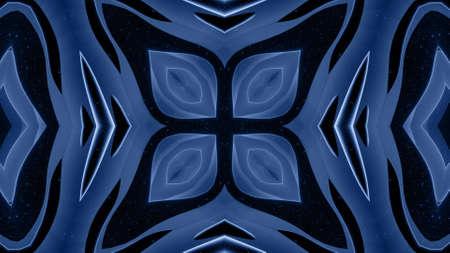 3d render. 3d abstract soft black matte 3d shape in symmetrical structure of matte material light glow glitter. Stockfoto