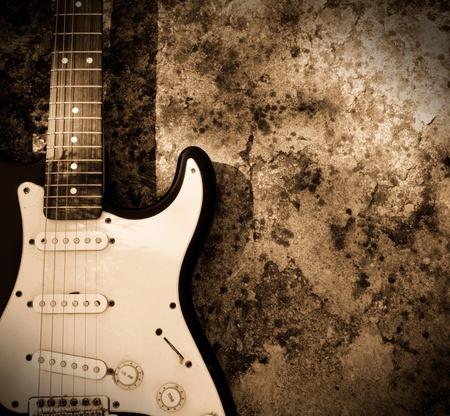 Grunge guitar photo