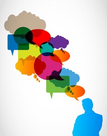 attività discorso bolle concept